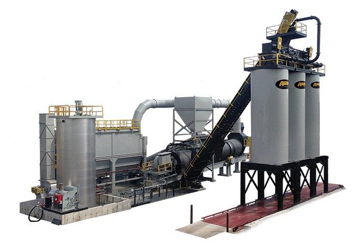 EX SERIES Asphalt Mixing Drum Plant – 120-425 TPH